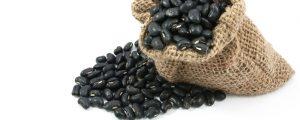 Burger van zwarte bonen
